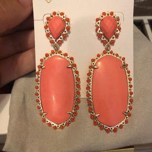 Kendra Scott Parson Earrings in Coral
